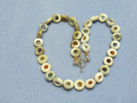 Gemstone and Crystal Necklace (507)