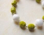 Green and White. Limon. Bracelet