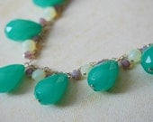 Mint Green Statement Necklace. Bib Necklace. Pastel Colors. Alice. Spring
