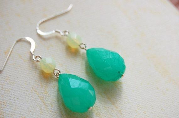 Green and Yellow. Lemon Lime. Citrus Earrings
