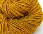 Aran weight NYS Wool - Hand Dyed - Goldenrod