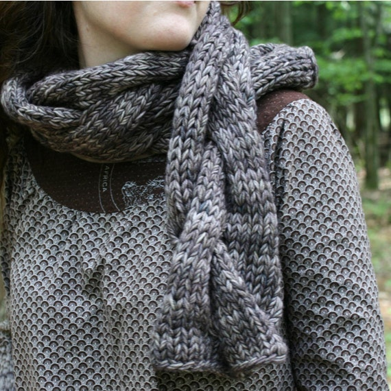 Gigantic Cable Scarf  PDF knitting pattern INSTANT DOWNLOAD