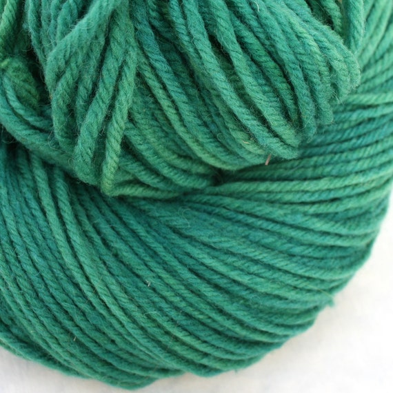 Aran weight NYS Wool - Hand Dyed - Emerald
