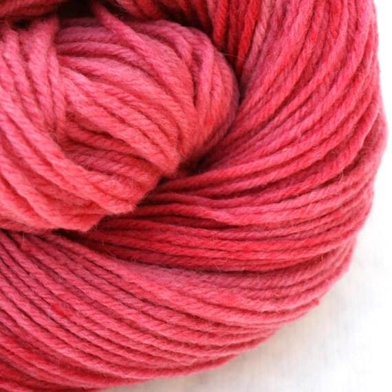Aran weight NYS Wool  Hand Dyed  Rose