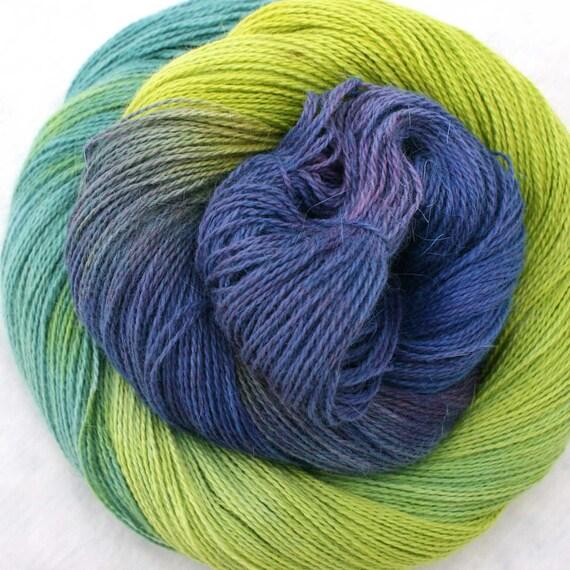 Hand Dyed Angora Silk Laceweight Yarn - Gustanado