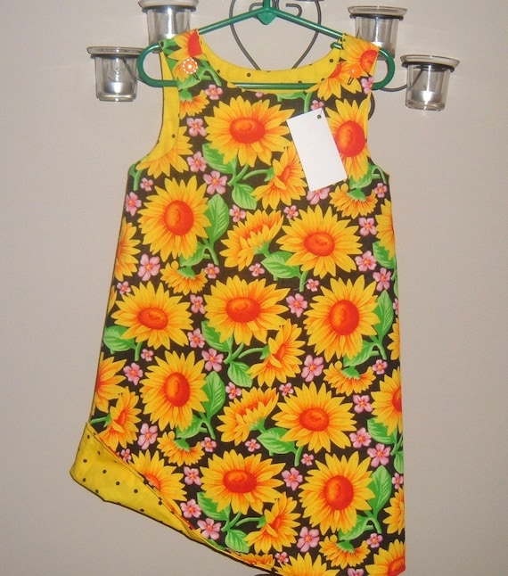 Reversible Aline jumper size 5 - sunflowers