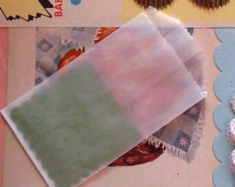 Flat Translucent Glassine Bags / Two Dozen