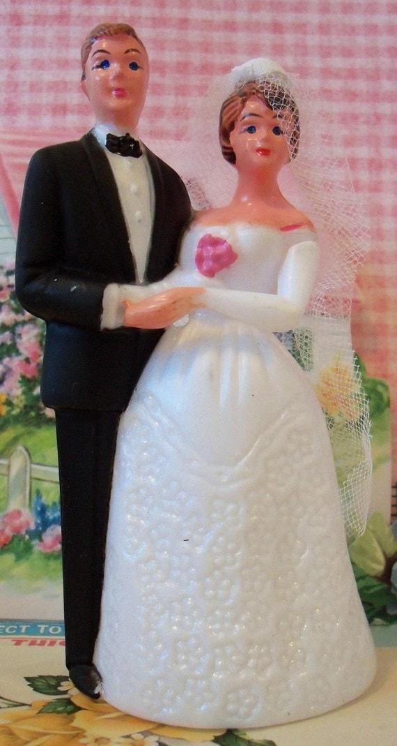 vintage wedding cake topper bride and by chocolateletters. Black Bedroom Furniture Sets. Home Design Ideas
