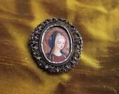 Amazing hand painted Virgin Icon pendant