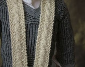 Aran micro-knit cable scarf for MSD - SD dolls