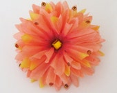 Peach ( Hair Flower )