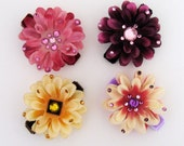 Beautiful Garden ( Hair Flower - Gift Set of 4 in a custom gift box )