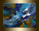 """ORIGINAL abstract PAINTING,acrylic on canvas 23,6"""" x 31,5"""" x 0,7"""" in inches-One of a kind - HUGE,with certificate of authenticity"""