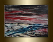 "Large Landscape Art Landscape Wall Art Landscape Painting original LANDSCAPE abstract PAINTING acrylic on canvas Art 23,6"" x 31,5"" x 0,7"""