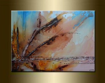 "ORIGINAL abstract PAINTING Modern Art Modern Abstract Watercolor Art Abstract Canvas Art acrylic on canvas 23,6"" x 31,5"" x 0,7"" Red Brown"