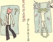 Flidais and Renard -  set of 2 original ACEOs