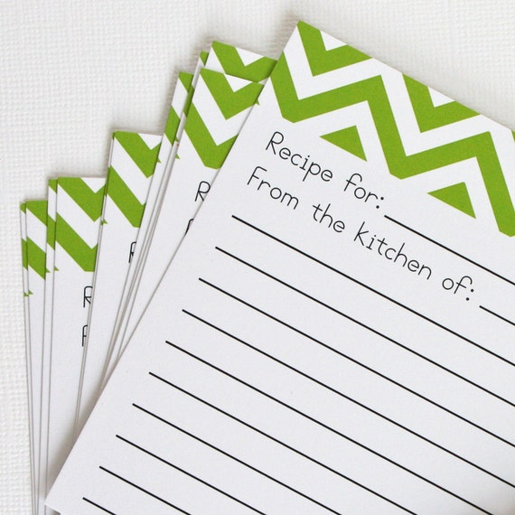 SALE - 50% OFF - Green Recipe Cards