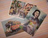 Classy Geisha 1940s Vintage Postcard Packet