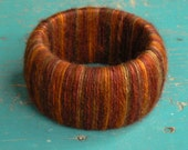 Wool Wrapped Bracelet in Autumn leaf colors