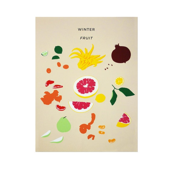 Winter Fruit Print