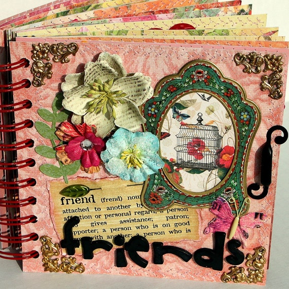 Reserved for BEBRAVE------FRIENDS A-Z Scrapbook Album