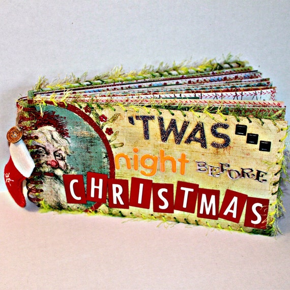 TWAS THE NIGHT Before Christmas Chipboard Scrapbook Album