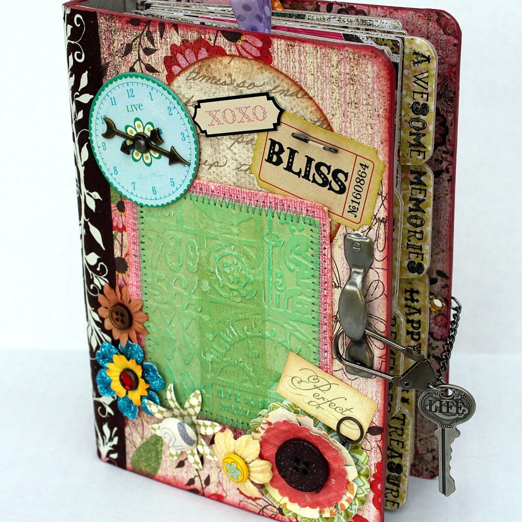 BLISS Chipboard Binder Scrapbook Album By Papersilly On Etsy