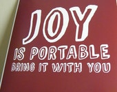 Joy Is Portable Poster 8x8 motivation and inspiration