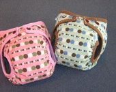 Lots of Dots AIO Stuffable Cloth Diaper Set of Two Medium