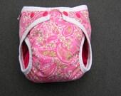 Pretty Paisley AIO Stuffable Cloth Diaper Size Medium