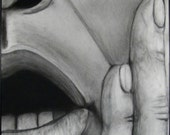 Huge Charcoal Face - Original Drawing by Jason Collins 32 inches by 40 inches PRICE REDUCED