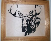 Bull moose scroll saw picture