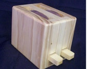 Wooden wood toy toaster hand made appliance just like moms