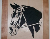Horse scroll saw portrait of a horse head