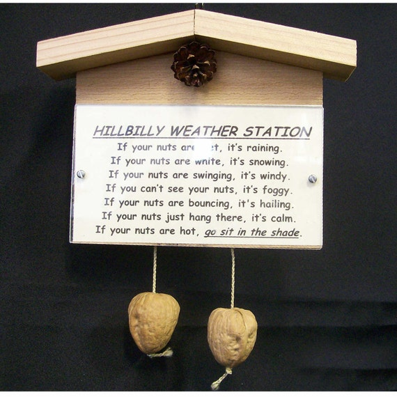 Hillbilly weather station novelty gag gift (custom title available)