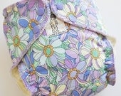 ON SALE Resting Flowers Traditional Hemp Fitted Diaper - LC sz 2