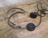 Wonderful Vintage Telephone Operator Head set Headphones retro industrial factory
