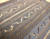Fabulous Vintage French Fabric Stencil Purchased at a  Paris Flea Market art deco