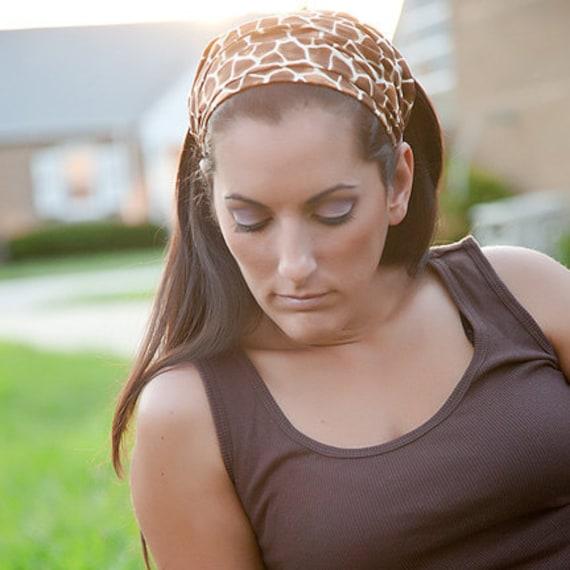 Women's  African Giraffe Print Hairwrap, Headbands