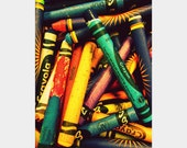 Crayons: colorful fine art photograph print for children, teachers, and artists (wall decor for classroom, playroom, nursery)
