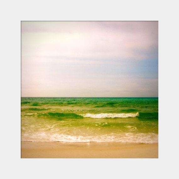 Ocean Waves Photo, Destin Beach Photo, Green Blue Art, Florida Beach Photo, Emerald Green Art, Gulf of Mexico Waves, Peaceful Wall Art