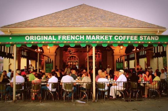 Caf du monde photo bold kitchen art coffee lover gift for Restaurant cuisine du monde paris