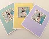 Set of 3 Note Cards - Tyler the Terrier Designs