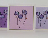 Mini Notes - Rainbow Flowers Set of 15 Assorted Thank You Notes