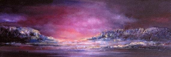 Night Sky  Original painting textured minimalist abstract seascape fine artblack friday etsy cyber monday etsy sale