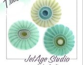 Ocean Trio Blend 104 coe handpulled custom murrini from JetAgeStudio