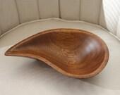 Tear Shaped Wooden Bowl