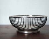 Silver Plated Bowl / Basket / Mid-Century Modern