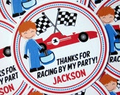 NEW- Race Car Favor Tags - Choose your Favorite Car and Driver