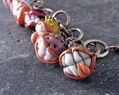 The Meanest Lampwork Bead and Fine Silver Charm Bracelet